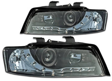 Audi A4 B6 00 04 Lampy Przód Black Chrom Daylight Led Mad Tuning