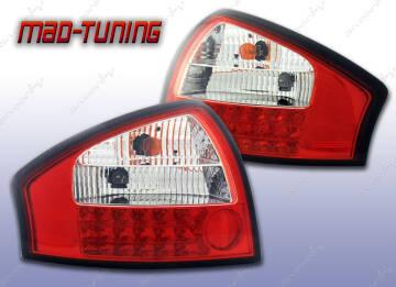 Audi A6 C5 97 04 Lampy Tył Led Czerwonebiałe