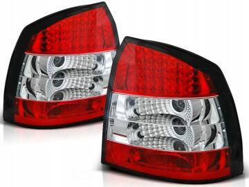 Opel Astra G Ii 97 04 3d5d Lampy Tylne Red White Led