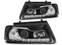 VW PASSAT B5 96-00 Lampy przód Clear Black DAYLIGHT LED